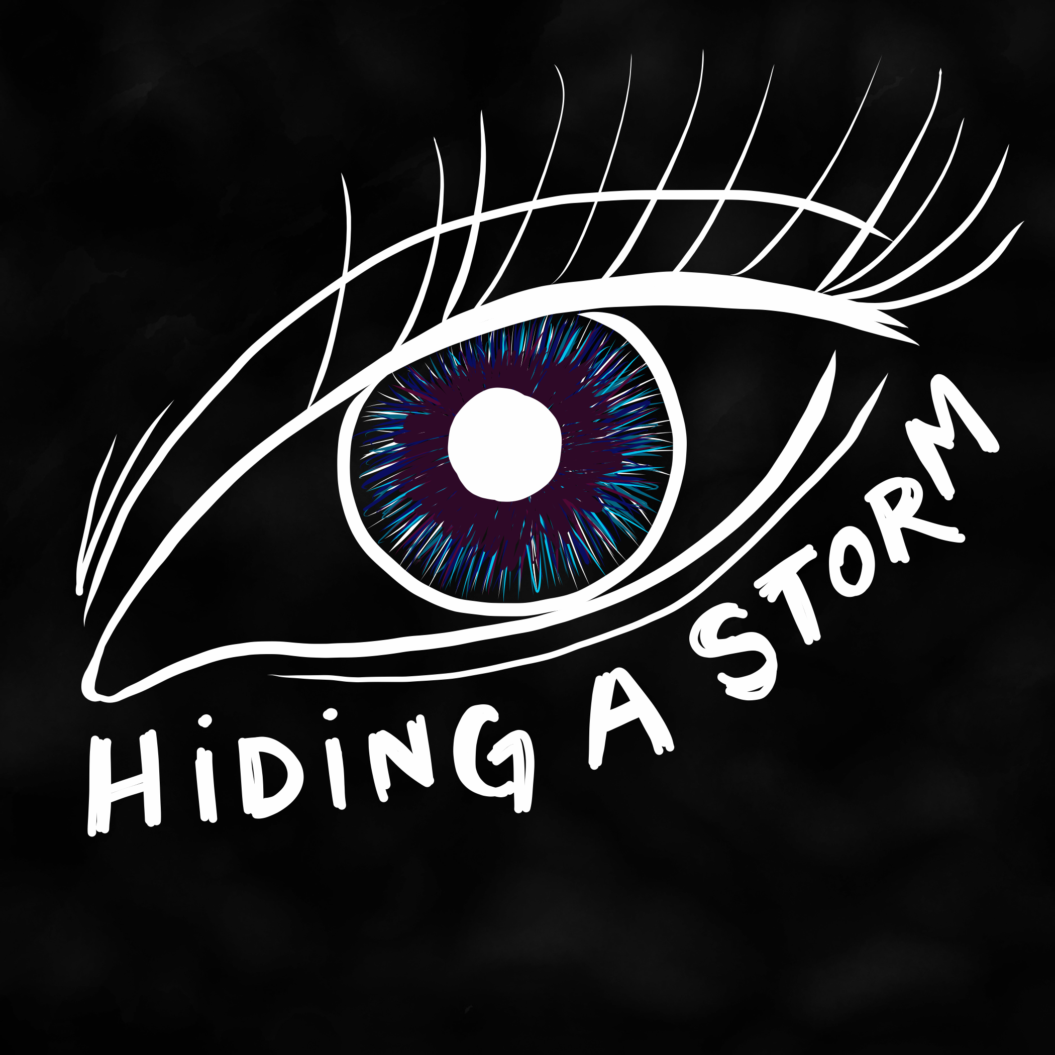 """Hiding a Storm"", album artwork by Kira Allmann"